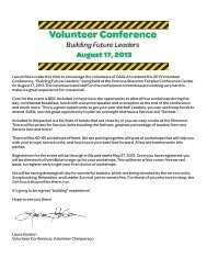 A letter from the 2013 Volunteer Conference Chair, Laura Gordon