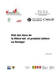 Etat des lieux de la filière lait et produits laitiers au Sénégal - REPOL