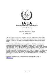 Fukushima Daiichi Status Report - 31 August 2012 - JAPAN PORTAL