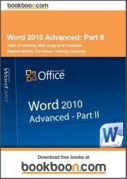 Word 2010 Advanced: Part II Language English Format - Tutorsindia