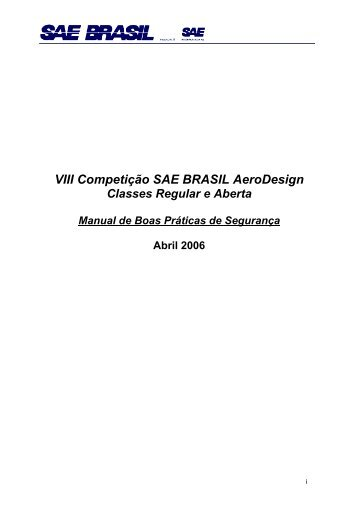 VIII Competição SAE BRASIL AeroDesign - UFSC Aerodesign
