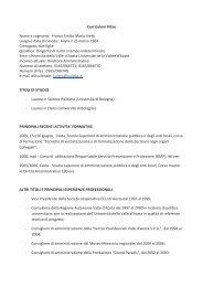 Curriculum - Università della Valle d'Aosta