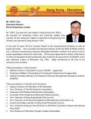Mr. Cliff K. Sun Executive Director, Kinox Enterprises Limited Mr. Cliff ...