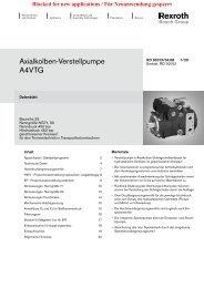 Axialkolben-Verstellpumpe A4VTG - Group VH A/S