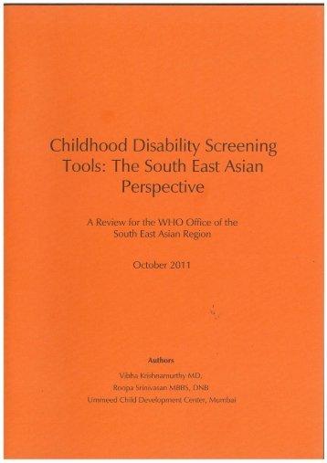 Shoklo Developmental Test - South-East Asia Regional Office ...