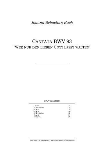 """Johann Sebastian Bach CANTATA BWV 93 """""""