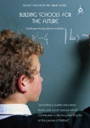 Building Schools For The Future - Belfast Education & Library Board