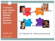 A Vision and Action Plan for Middle School ... - Whitcomb School