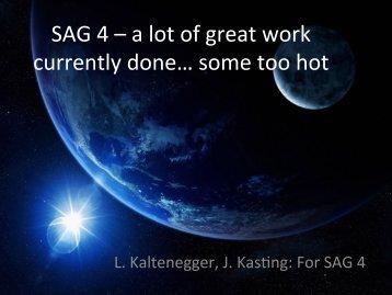 SAG4 - Exoplanet Exploration Program