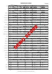 DEMO SCORE - Musikverlag Frank