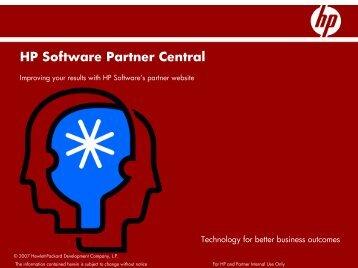 HP Software Partner Central