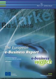 The European e-Business Report 2004 - Berlecon Research GmbH