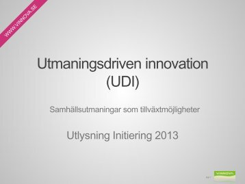 Utmaningsdriven innovation - Vinnova