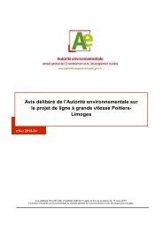 130313 LGV Poitiers-Limoges avis délibéré - Portail documentation ...