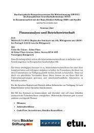 Finanzanalyse und Betriebswirtschaft - WORKER PARTICIPATION.eu