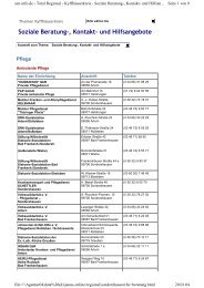Soziale Beratung-, Kontakt- und Hilfsangebote - Sen-Info
