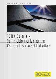 ROTEX Solaris - Energie solaire pour la production d'eau chaude ...