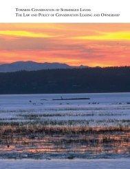 Towards conservation of submerged lands - Marine Conservation ...