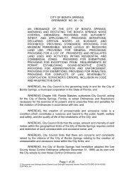 Page 1 of 25 CITY OF BONITA SPRINGS ORDINANCE NO. 06 – 04 ...