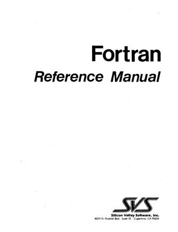 Fortran - Bitsavers