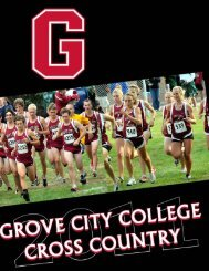 cross country 2011-2012 - Grove City College