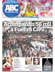 Acompañan 56 mil a Fuerza Civil - Periodicoabc.mx