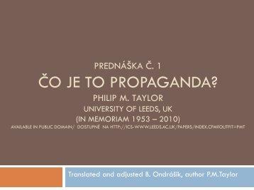 Public Diplomacy, Propaganda and PSYOPS - branoondrasik.sk