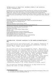 Materiality and historicity - Medienwissenschaft