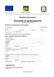 domanda iscrizione fse - Circolo Cultura e Stampa Bellunese