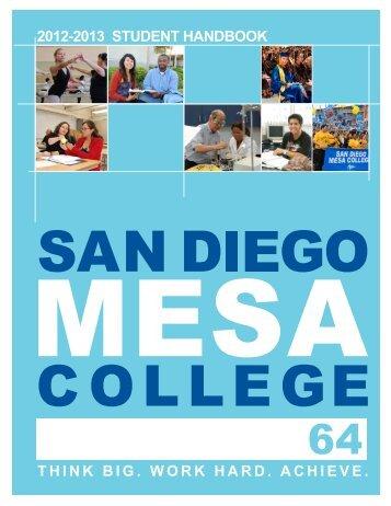 Student Handbook - San Diego Mesa College