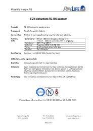 Pipelife Norge AS FDV-dokument PE 100 gassrør - Atea