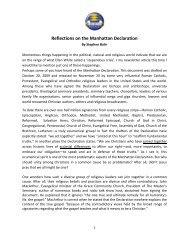 Reflections on the Manhattan Declaration - Secrets Unsealed > Home