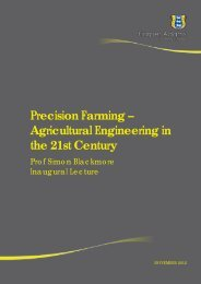 Precision Farming - Agricultural Engineering in the 21st Century