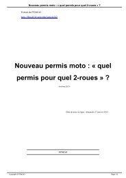 Nouveau permis moto : « quel permis pour quel 2-roues » ? - FFMC43