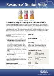 Resource® Senior Activ - Nestlé Nutrition