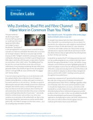 Why Zombies, Brad Pitt and Fibre Channel Have More in ... - Emulex