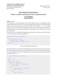 Aufgabenblock 2 - Institut für Wissenschaftliches Rechnen ...