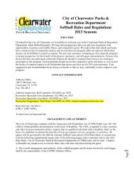 City of Clearwater Parks & Recreation Department
