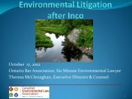 Download PDF file - Canadian Environmental Law Association