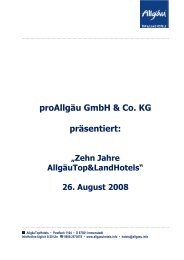 proAllgäu GmbH & Co. KG präsentiert - FUCHS PR & CONSULTING ...