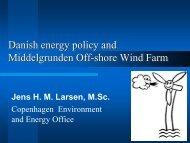 Danish energy policy and Middelgrunden Off ... - Ea Energianalyse