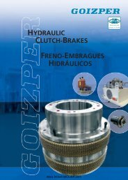 hydraulic clutch-brakes freno-embragues hidráulicos - opis.cz