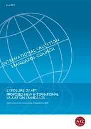 Proposed New International Valuation Standards