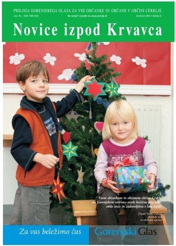 Številka 6, December 2005 - Cerklje.si