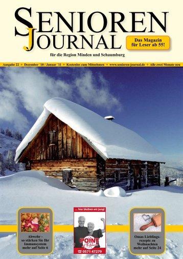 Ausgabe 22 - Dez. / Jan. 2010/11 - Senioren Journal