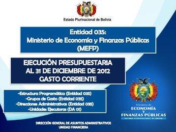 Diapositiva 1 - Ministerio de Economía y Finanzas Públicas