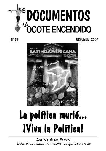 La política murió... ¡Viva la Política! - Comités Monseñor Óscar ...