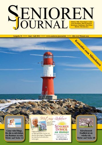 Ausgabe 31 - Juni / Juli 2012 - Senioren Journal
