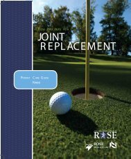 Rose Institute for Joint Replacement Patient Care Guide - Knee