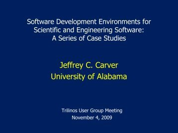 CSE 4233/6233 Mississippi State University Dr. Jeffrey Carver